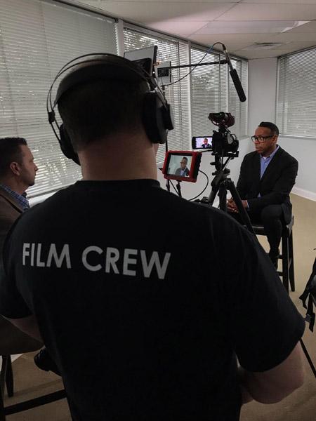 Corporate interview in Cincinnati. Professional Videographer service.