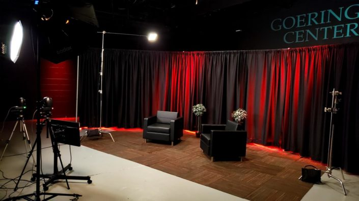 The studio is customizable to suit any visual needs, Valere Studios