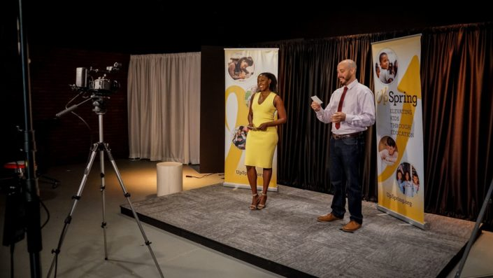 Upspring hosted their Virtual events live from Valere Studios