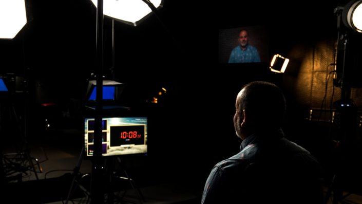 Jason Scott on Camera at Valere Studios for a studio taping